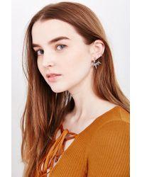 Urban Outfitters - Metallic Frozen Thorn Ear Hugger Earrings - Lyst