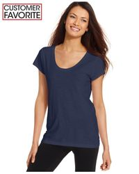 Style & Co. | Blue Scoop-neck T-shirt, Only At Macy's | Lyst