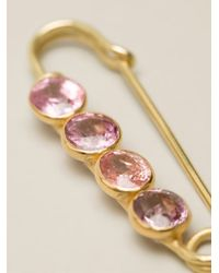 Marie-hélène De Taillac - Pink Spinel Safety Pin - Lyst