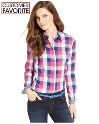 Tommy Hilfiger | Blue Plaid Button-down Shirt | Lyst