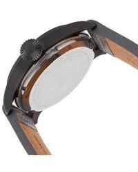 Swiss Legend - Gray Pioneer Grey Genuine Leather Gunmetal Dial Black Ip Case for Men - Lyst