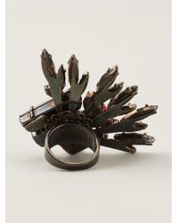 Vickisarge - Metallic Cocktail Ring - Lyst