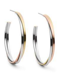 Michael Kors | Metallic Mkj3286998 Womens Hoop Earrings | Lyst