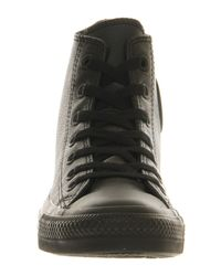 Converse Black All Star Hi Leather for men