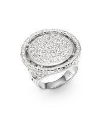John Hardy Metallic Naga Diamond 0.65 Pavé Tcw Diamond & Sterling Silver Round Ring