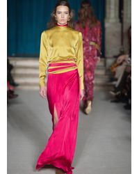 Matthew Williamson | Red Ruby Satin Wrap Skirt | Lyst