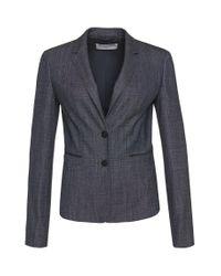 BOSS - Blue 'juleani'   Stretch Virgin Wool Blend Blazer - Lyst