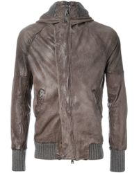 Giorgio Brato | Brown Ribbed Cuff Jacket for Men | Lyst