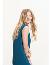 Violeta by Mango | Green Flowy Shift Dress | Lyst