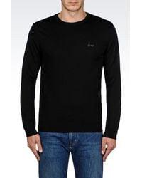 Armani Jeans   Black Jumper In Virgin Wool for Men   Lyst