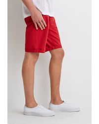 Forever 21   Red Classic Chino Shorts   Lyst