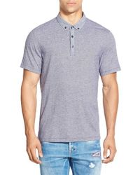 Howe | Gray Jacquard Short Sleeve Polo for Men | Lyst