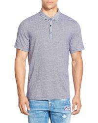 Howe | Gray Jacquard Short Sleeve Polo for Men | Lyst