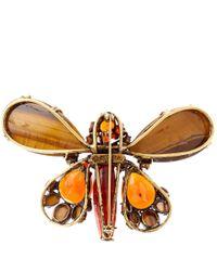 Iradj Moini Orange Tiger Butterfly Brooch