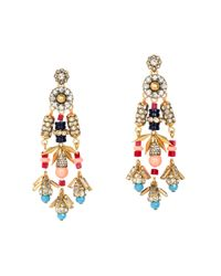 J.Crew | Multicolor Jeweled Color Burst Earrings | Lyst