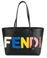 Fendi - Black 'roll' Tote - Lyst