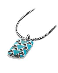David Yurman - Blue Frontier Tag with Turquoise for Men - Lyst