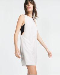 Zara | White Short Dress | Lyst