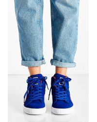 PUMA Blue Suede Classic Mid Jr Sneaker