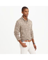 J.Crew Natural Italian Wool-alpaca Shawl-collar Cable Sweater for men
