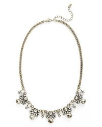 BP Metallic Crystal Statement Necklace