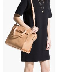Mango Brown Knot Cross-Body Bag