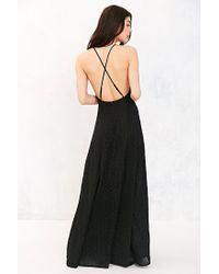 Kimchi Blue - Black Apron Neck Embroidered Maxi Dress - Lyst
