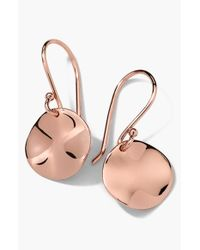 Ippolita | Pink Rose Small Wavy Disc Earrings | Lyst