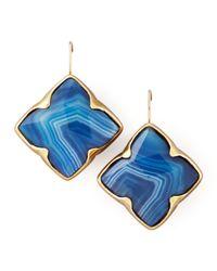 Stephen Dweck - Blue Agate Clover Drop Earrings - Lyst