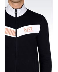EA7 | Blue 7colours Line Full Zip Sweatshirt for Men | Lyst