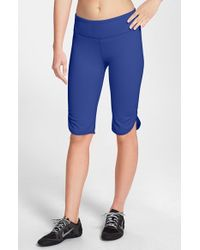 Zella | Blue 'live In' Slim Fit Knee Shorts | Lyst
