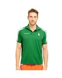 Ralph Lauren - Green Mesh-paneled Jersey Polo Shirt for Men - Lyst