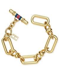Tommy Hilfiger | Metallic Gold-tone Infinity Link Bracelet | Lyst