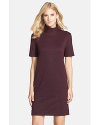 Donna Morgan Black Mock Neck Knit Shift Dress