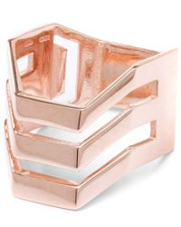 Maria Black | Pink Rose Gold-plated Trinity Ring | Lyst
