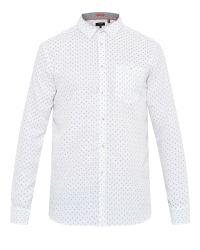 Ted Baker   White Evrytoo Geo Print Shirt for Men   Lyst