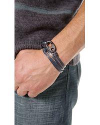 Miansai Blue Brummel Hook Noir Bracelet for men