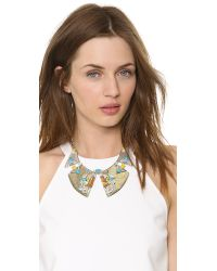 Alexis Bittar - Multicolor Matrix Divided Pave Motif Bib Necklace Silver Multi - Lyst