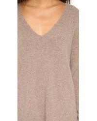 Free People - Brown Softly Vee Sweater - Lyst