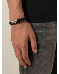DIESEL | Black 'Alibys' Bracelet for Men | Lyst