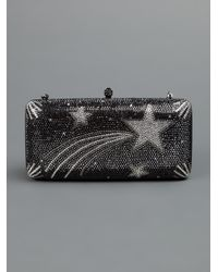 Sylvia Toledano Black Shooting Star Box Clutch