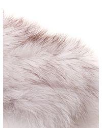 ROKSANDA White Anson Fox-fur Collar