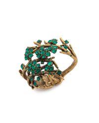 Oscar de la Renta Metallic Set Of Three Goldplated Bracelets