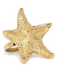 kate spade new york | Metallic Starfish Ring | Lyst