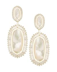 Kendra Scott | White Penny Post Earrings | Lyst