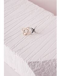 Missguided | Metallic Two Pack Space Rings | Lyst