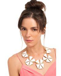 Trina Turk - White Geo Flower Collar Neck - Lyst