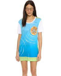 Moschino Blue Bear Cover Up