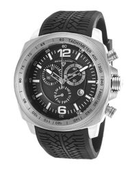 Swiss Legend - Sprinter Chronograph Black Silicone And Dial Silver-tone Case - Lyst