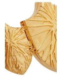 Harlot & Bones | Metallic Gold-plated Shield Cuff | Lyst